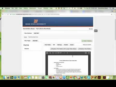 How to upload a .pdf doc into your Digication ePortfolio