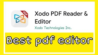 Xodo pdf editor | How to edit pdf file for free | Best pdf editor for educators |