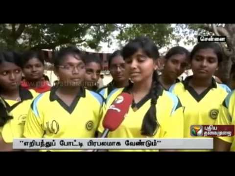 State level Throw ball: Chennai Team won league match