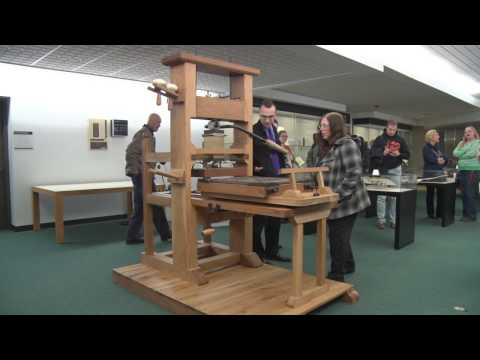 RIT Cary Collection Adds Student-Designed Wooden Common Press