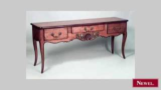 Antique 2 French Provincial Style Walnut Console Table