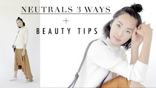 Neutrals 3 Ways + Fall Beauty Trends Lookbook
