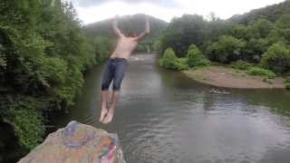 Cliff Jumping at Peace Rock PA. 6/22/14