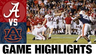 #1 Alabama vs #4 Auburn Highlights | 2013 College Football Highlights | 2010's Games of the Decade