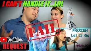 'Let It Go' Cover Live Performance Angelica Hale (COUPLES REACTION FAIL)