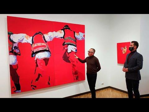 Телеканал ВІННИЧЧИНА: У Вінниці відкрилась виставка Мар'яна Луніва Аркан - Єднання