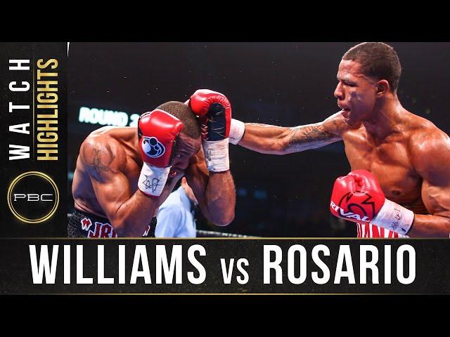 Williams vs Rosario HIGHLIGHTS: January 18, 2020 | PBC onFOX