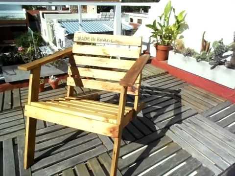 Sillon de madera exterior youtube for Sillon madera exterior