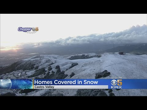 Bay Area Wakes Up To Snow-Covered Homes, Cars, Streets, Hillsides