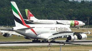 AIRBUS A380 goes FIRST - 2 AIRBUS A330 have to wait for an AIRBUS A380 (4K)