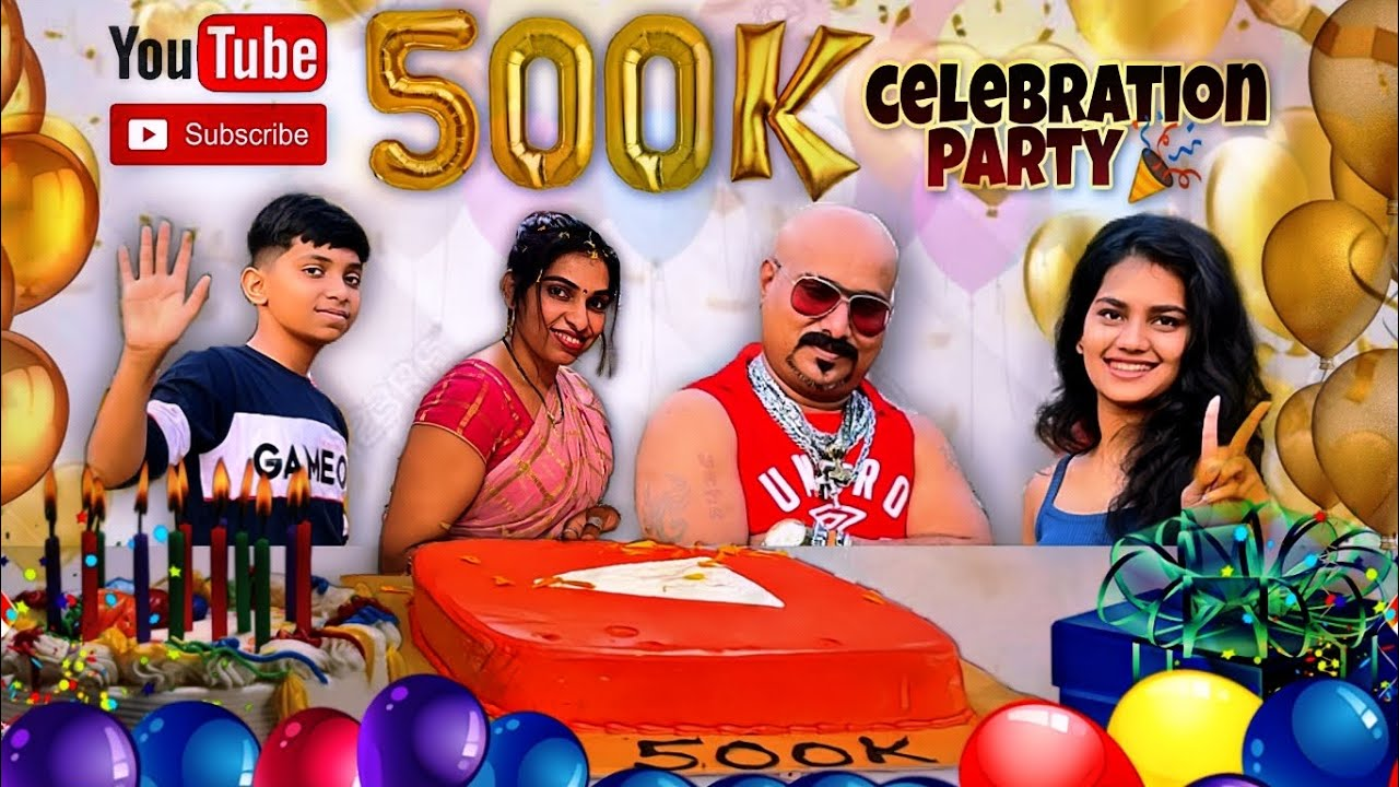 Celebration Party Of 500k Subscribers l Special l Ft. Nadani, Babu & Ganesh YouTuber l CLP
