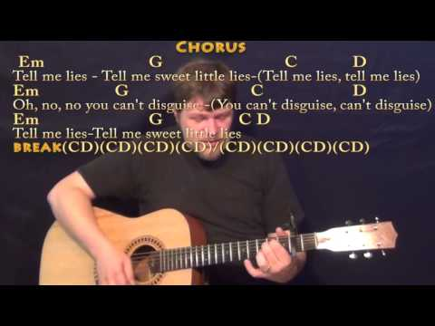 Little Lies (Fleetwood Mac) Strum Guitar Cover Lesson with Chords/Lyrics - Capo 2nd