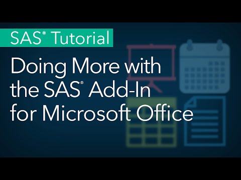 SAS Tutorial | Doing More With The SAS Add-In For Microsoft Office