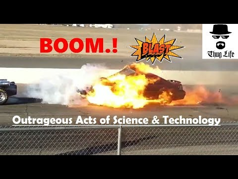 Rocket Car Burns a Mustang in Orlando, US | Jet Car - Outrageous Acts of Science and Technology