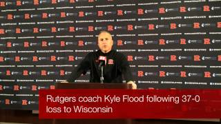 Rutgers coach Kyle Flood following Wisconsin loss