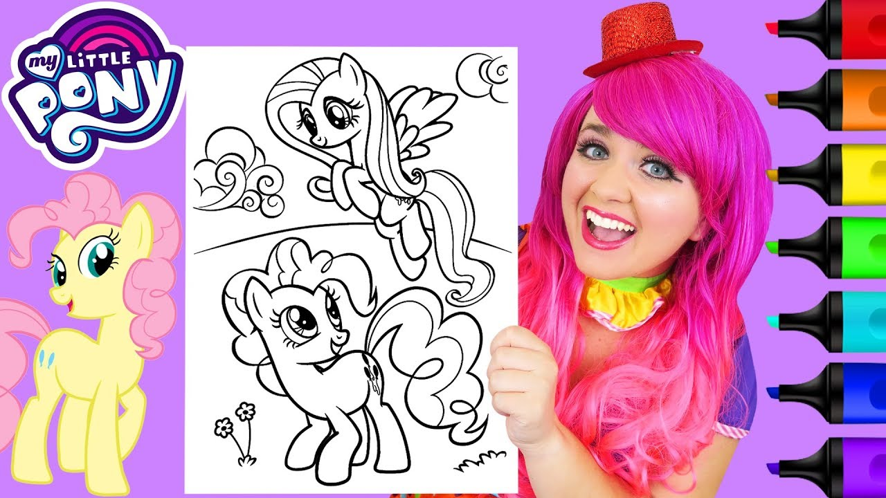 Coloring Fluttershy + Pinkie Pie MLP Makeover Coloring ...