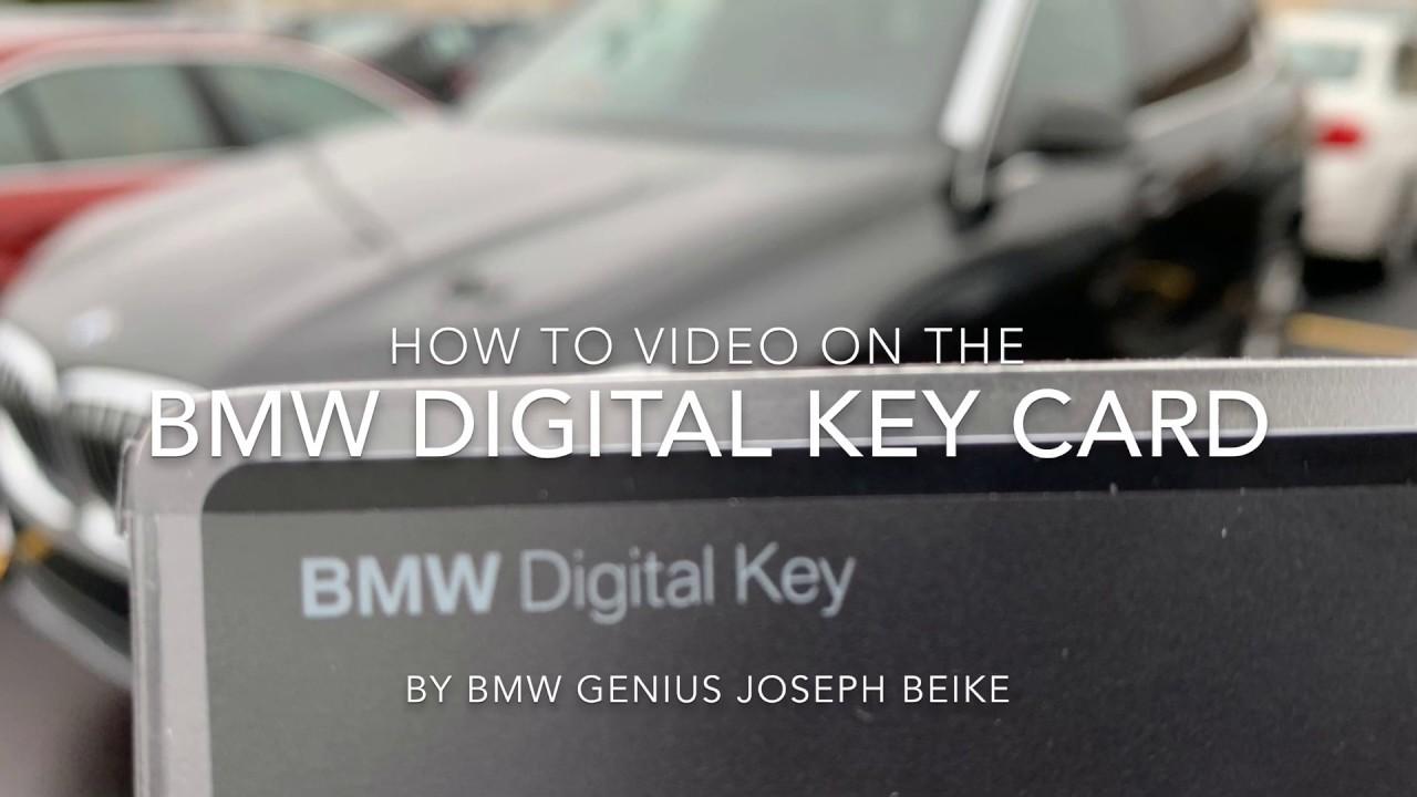 BMW Digital Key Card How-To - YouTube