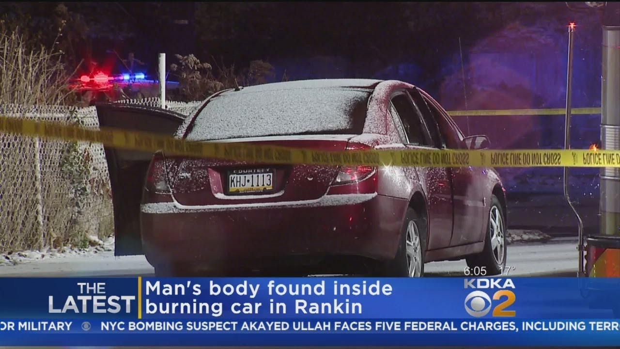 Body Of Man Discovered After Car Fire In Rankin - YouTube