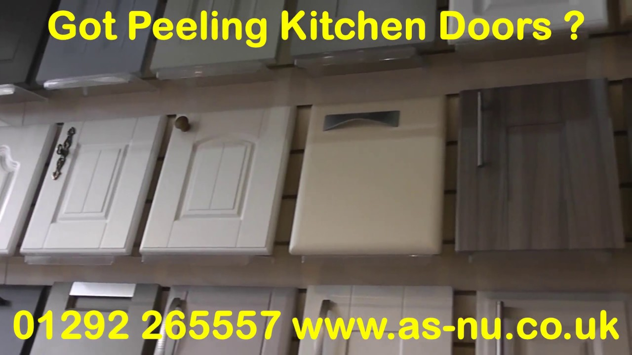 How To Make Kitchen Cabinet Doors Unfinished Island Peeling ? - Then Call 01292 265557 Youtube