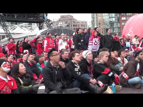 Reaction to Sidney Crosby's Goal Canada vs USA Vancouver 2010 Olympics Vlog 8 of 9
