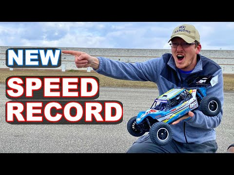 Fastest RC Car Ever On Our Channel NEW RECORD Speed Test!! - TheRcSaylors