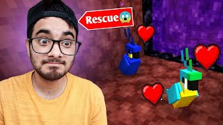 Biggest Rescue Mission in Minecraft to save my Parrots 🔥🔥 🔥