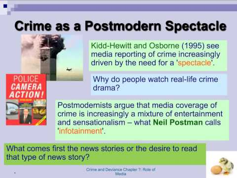 post modernism, the media and crime