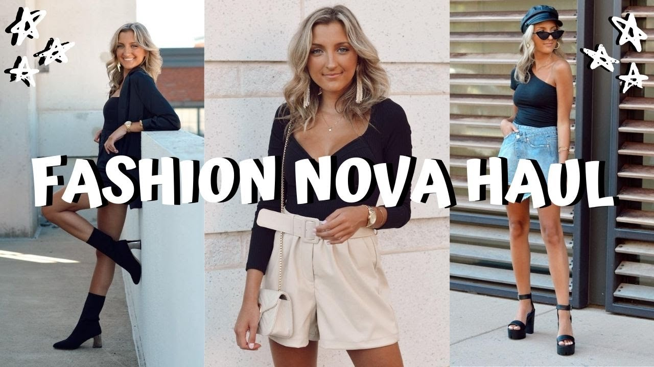 FASHION NOVA TRY ON HAUL // summer to fall transition clothes