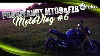 MotoVlog #6 Probefahrt Yamaha MT09 und Yamaha FZ8 - Welches Motorrad passt zu mir?