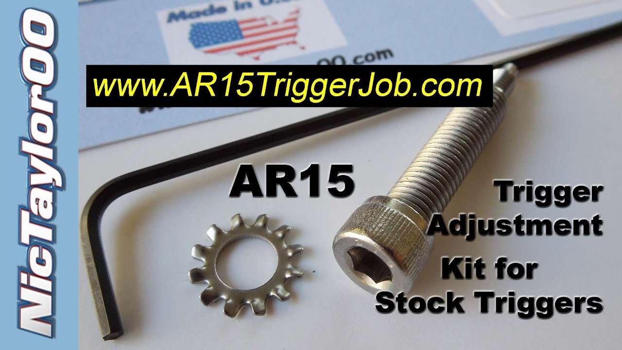 AR15 Trigger Adjustment Grip Screw Install Video - YouTube