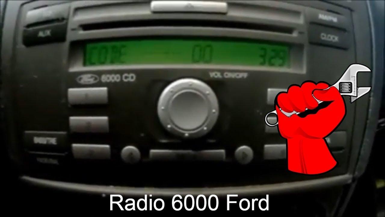 Ford Focus MK 2.5 07-11 fábrica Radio Estéreo Coche Visteon código de desbloqueo de serie V
