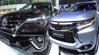 TOP 2016, 2017 Toyota and Mitsubishi SUVs Toyota Fortuner TRD, Mitsubishi Montero Pajero Sport