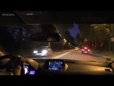 Driving Through Bois de Boulogne at Night