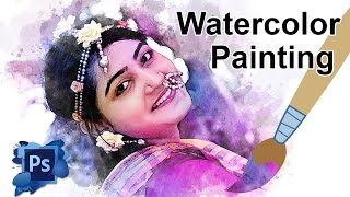 Photoshop Tutorial: Watercolor Painting | Digital Watercolor Effect | Bangla Tutorial