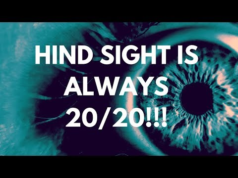 Twin Flames in Separation - Hind Sight Is Always 20/20!!! - November 2, 2018