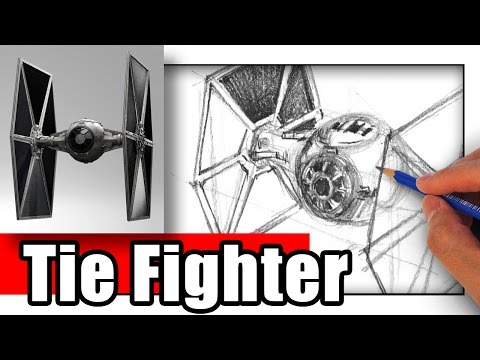 How to Draw the Tie Fighter the EASY Way