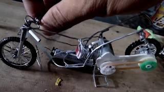 motor drag metik menggunakan tenaga batre. Miniatur drag metik tenaga batre