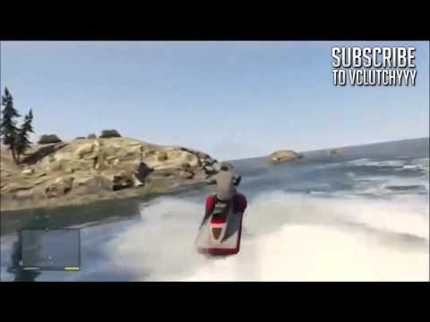 GTA 5 Jet Ski GAMEPLAY - GTA V Water Vehicles - Boats - Waves - Ocean - Islands - Beaches - MAP