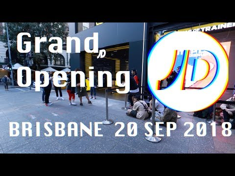 Grand Opening JDsports Brisbane สิ้นสุดการรอคอยที่แสนนาน