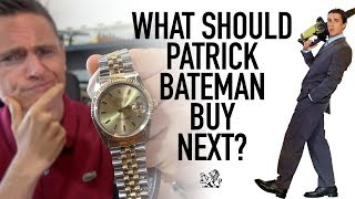An Important Question For The Gentry + Patrick Bateman Sells His Rolex DateJust 16013