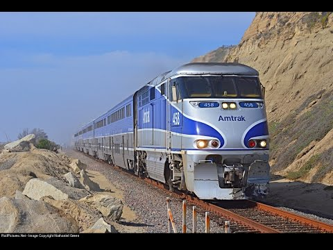 Highspeed Surfliner, Coaster and Metrolink at Carlsbad Village and San Clemente!!