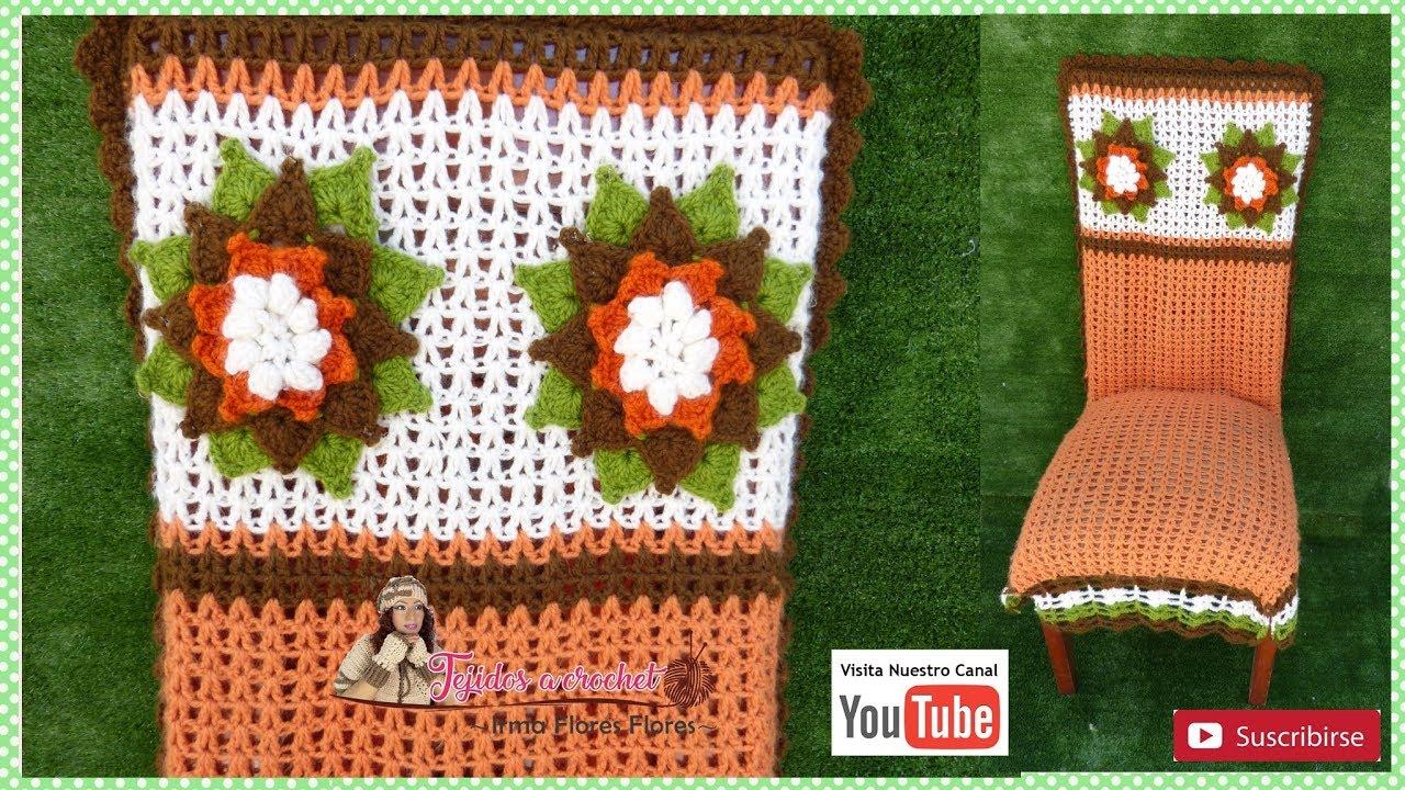 Realiza Funda Para Silla A Crochet Paso A Paso 1º Parte Youtube
