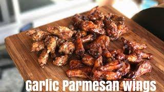 Smoked Garlic parmesan wings  Smoked wing drumette recipe