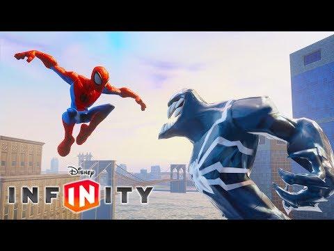 SPIDERMAN Cartoon Game Videos for Kids - VENOM Video Games for Children - Disney Infinity 2.0