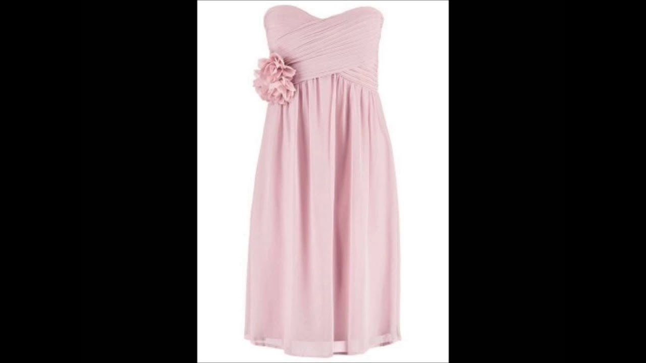 Esprit Cocktailkleid Kleid - rosa Bustierkleid Sommerkleid - YouTube