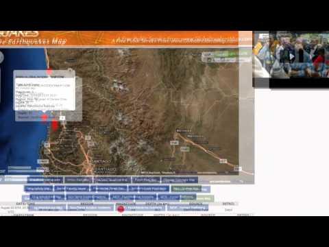 6.6-magnitude earthquake in Valparaiso, Chile.august 24 2014.