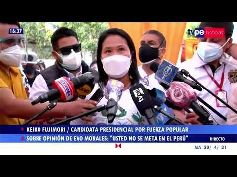 Declaraciones de Keiko Fujimori, candidata presidencial por Fuerza Popular