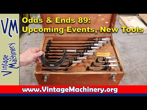 Odds & Ends 89:  Upcoming Events & New Tools for the Shop