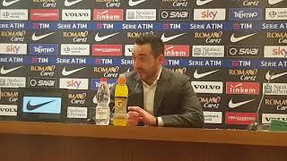 """Conferenza De Zerbi post Roma: """"Abbiamo perso 5-2, ma abbiamo giocato alla pari come coraggio"""""""