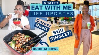 EAT WITH ME | LIFE UPDATES: Goal Setting, Still Single?!, Health Tips, Fitness | 2019 Resolutions